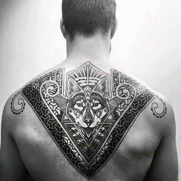 Mind Blowing Upper Back Tattoo