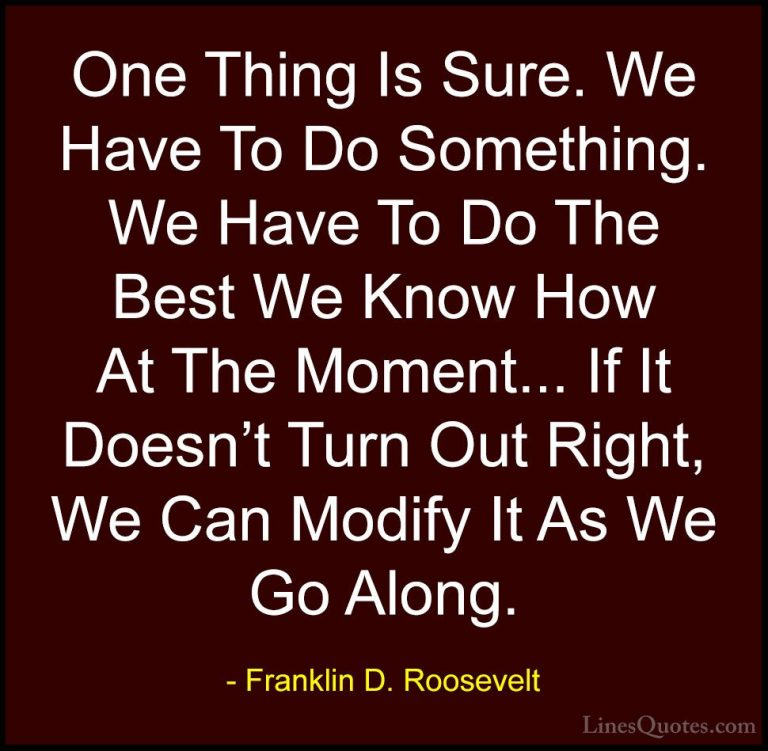 New Franklin D Roosevelt Quotes