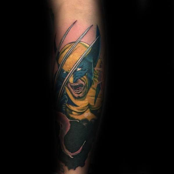 Nice Comic Tattoos Design