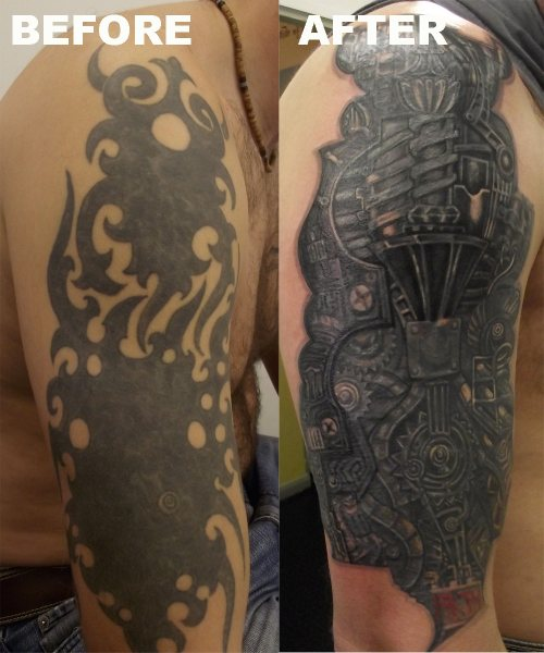 Nice Cover Up Tattoo Design