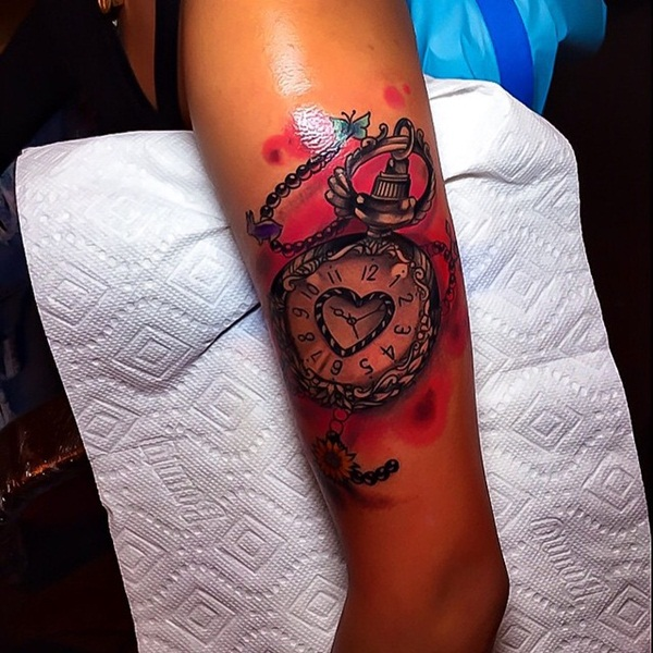 Nice Red Ink Tattoo