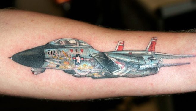 Outstanding Airplane Tattoos