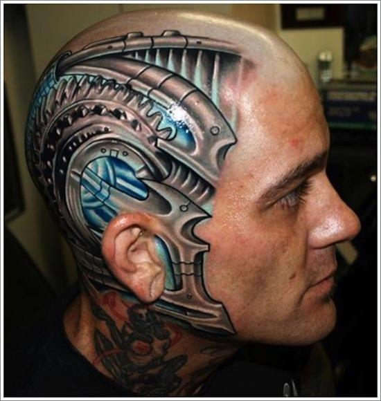 Outstanding Biomechanical Tattoo Designs