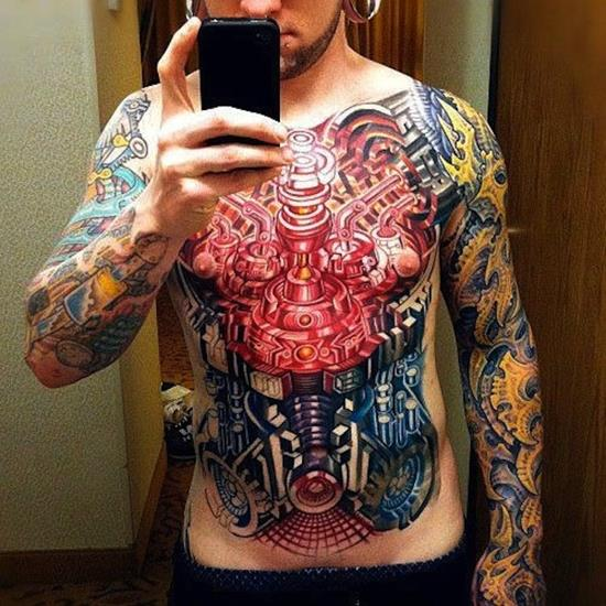 Outstanding Biomechanical Tattoos Designs