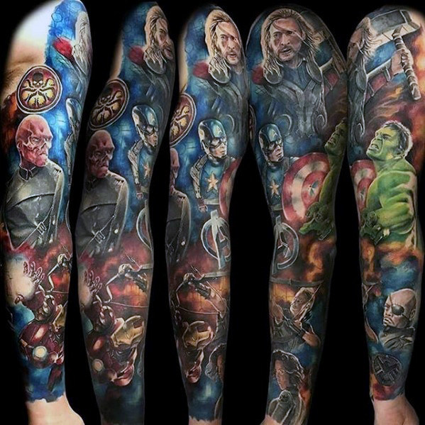 Outstanding Comic Tattoo