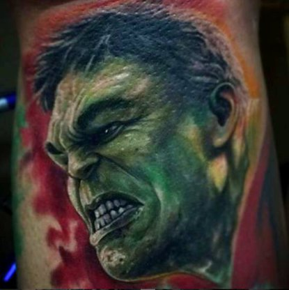 Outstanding Comic Tattoos Design
