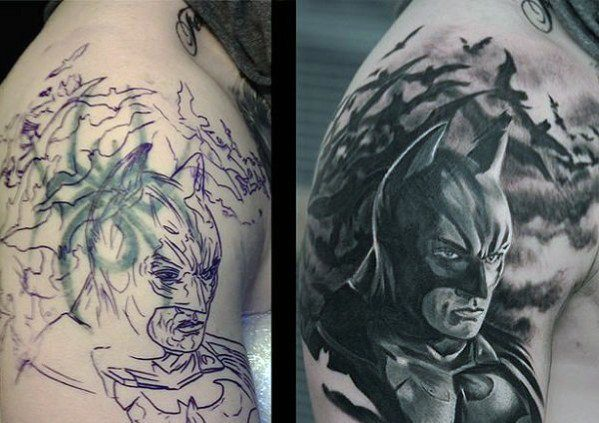 Outstanding Cover Up Tattoo Design
