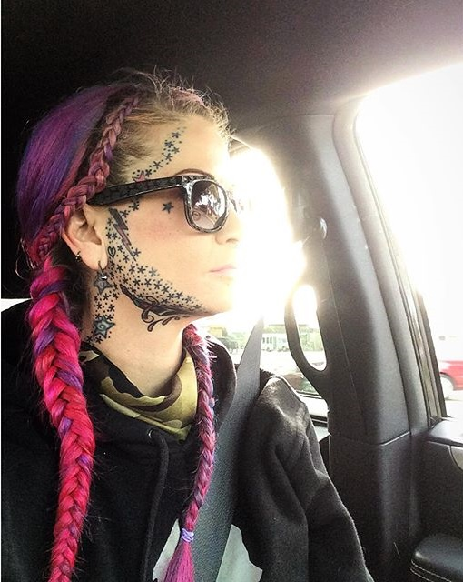 Outstanding Face Tattoos