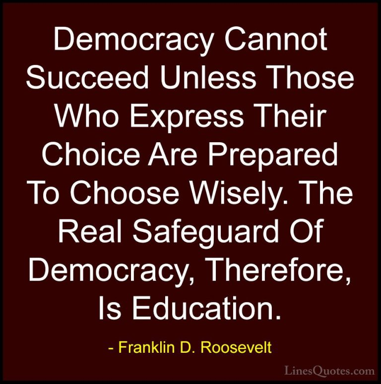 Outstanding Franklin D Roosevelt Quotes