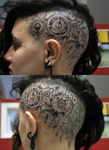 Outstanding Head Tattoos Designs