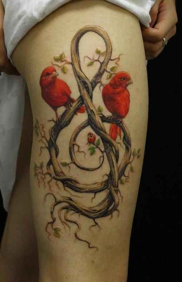 Outstanding Red Ink Tattoos Designs