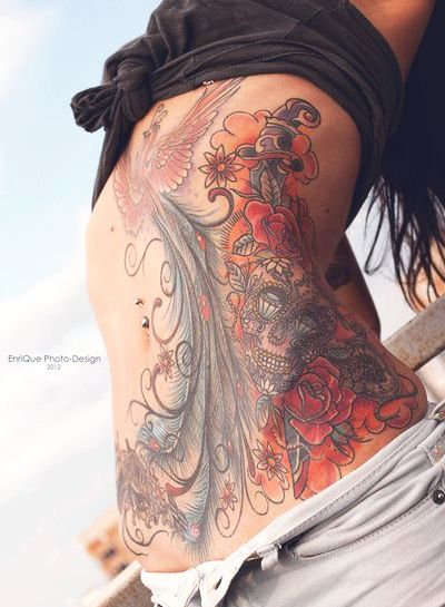 Outstanding Stomach Tattoos Designs