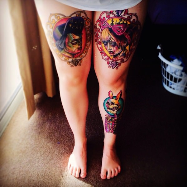 Outstanding Thigh Tattoo Designs