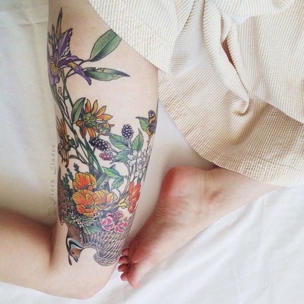 Outstanding Thigh Tattoo