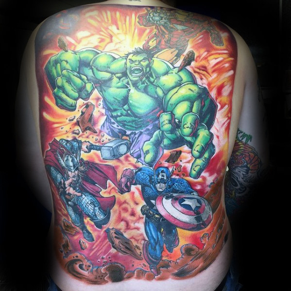 Stunning Comic Tattoo