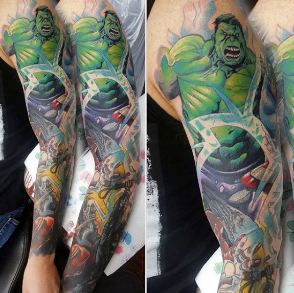 Stunning Comic Tattoos