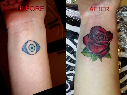 Stunning Cover Up Tattoos Design