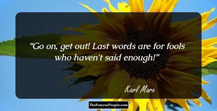 Stunning Karl Marx Quotation