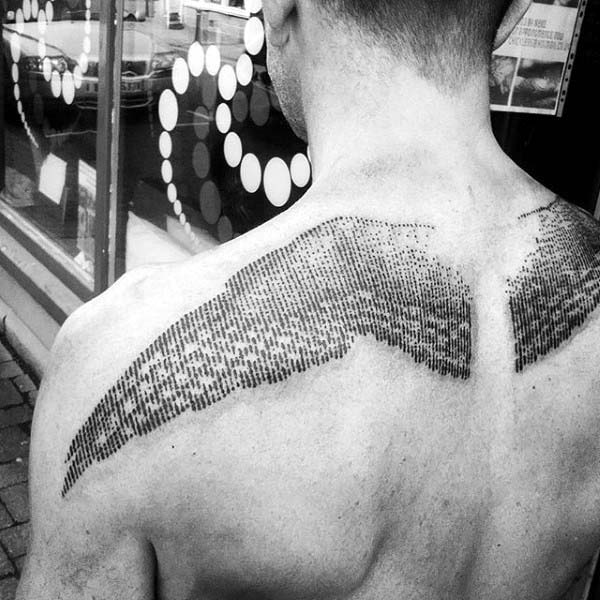 Stunning Upper Back Tattoo