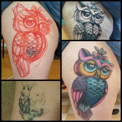 Superb Cover Up Tattoo