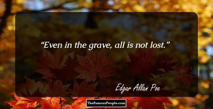 Superb Edgar Allan Quotations and Sayings
