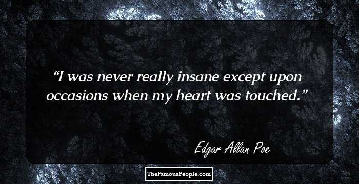Superb Edgar Allan Sayings