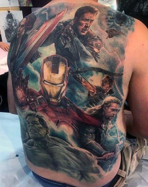 Wonderful Comic Tattoo Designs