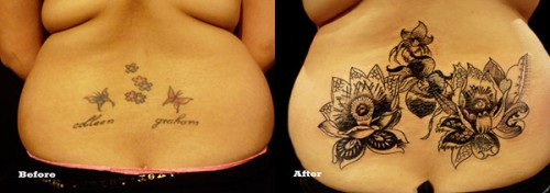 Wonderful Cover Up Tattoos Designs