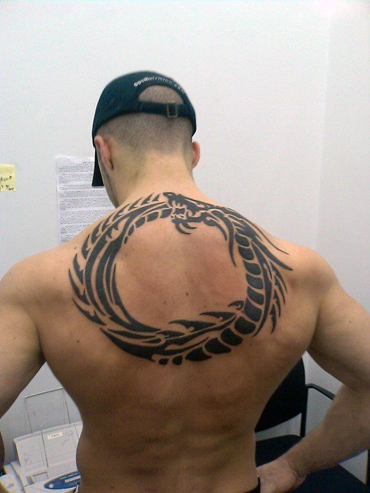 Wonderful Upper Back Tattoo