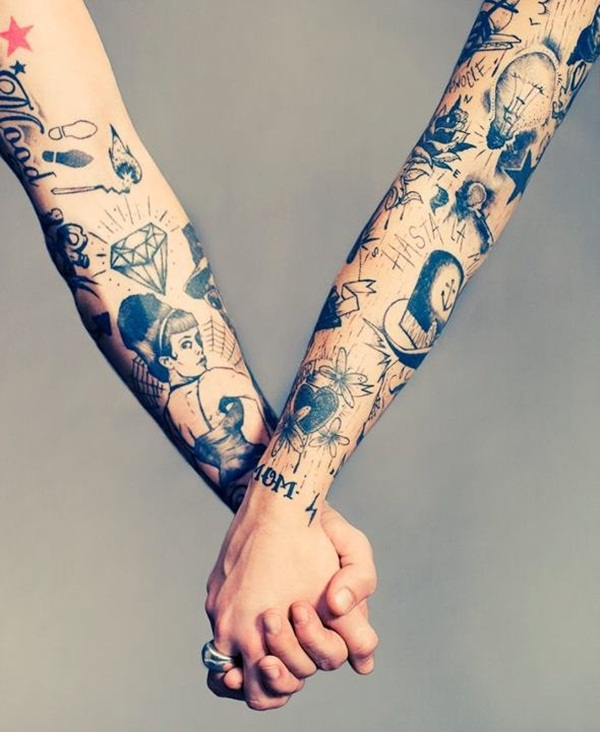 Awesome Couple Tattoo Design