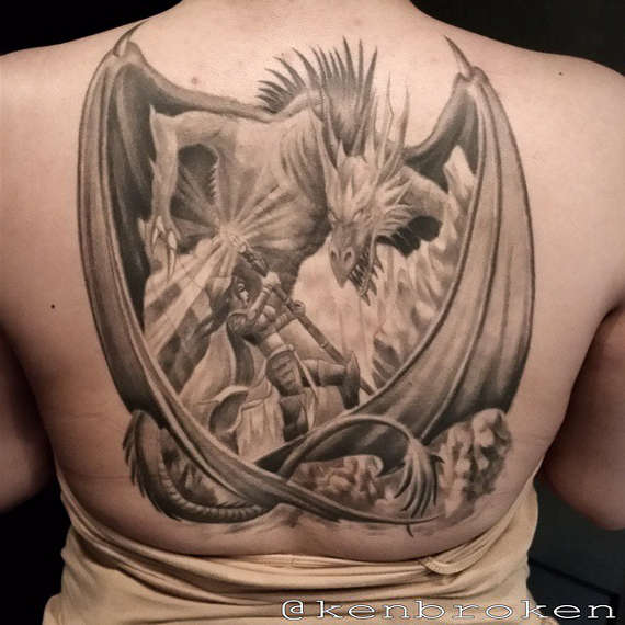 Awesome Dragon Tattoos Design