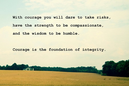 Beautiful Courage Quotation