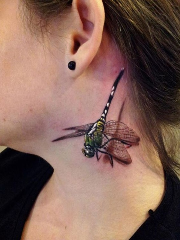 Charming Dragonfly Tattoo