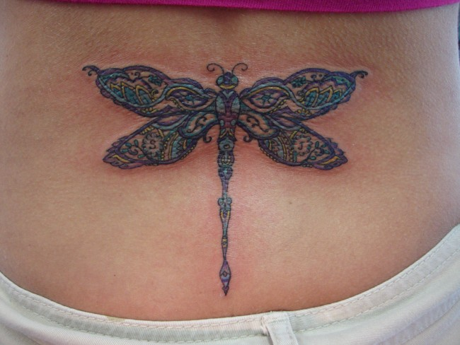Cool Dragonfly Tattoos Designs