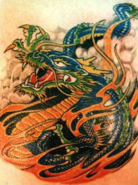 Cute Dragon Tattoo Design