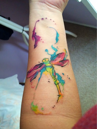Elegant Dragonfly Tattoo Idea