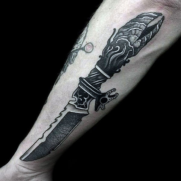 Extreme Dagger Tattoos Designs