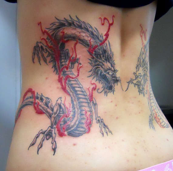 Fabulous Dragon Tattoos Design