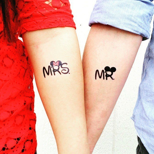 Incredible Couple Tattoo Design