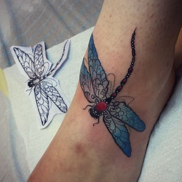 Marvelous Dragonfly Tattoo Design