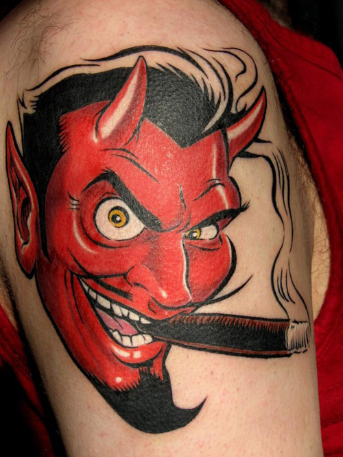 Mind Blowing Devil Tattoo
