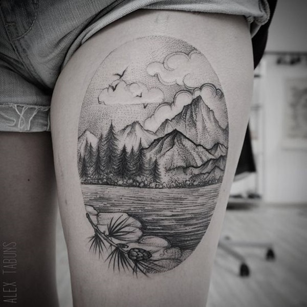 Mind Blowing Dotwork Tattoo Design