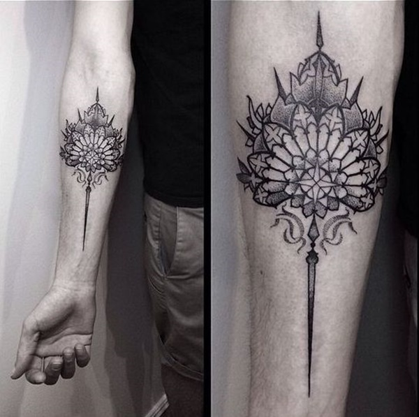 Nice Dotwork Tattoo Design