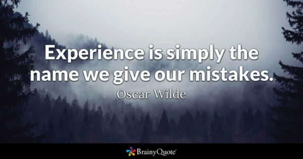 Top Oscar Wilde Quotes About Experience