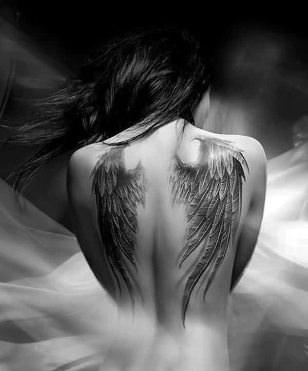 Pornstar angel wings tattoo — pic 12